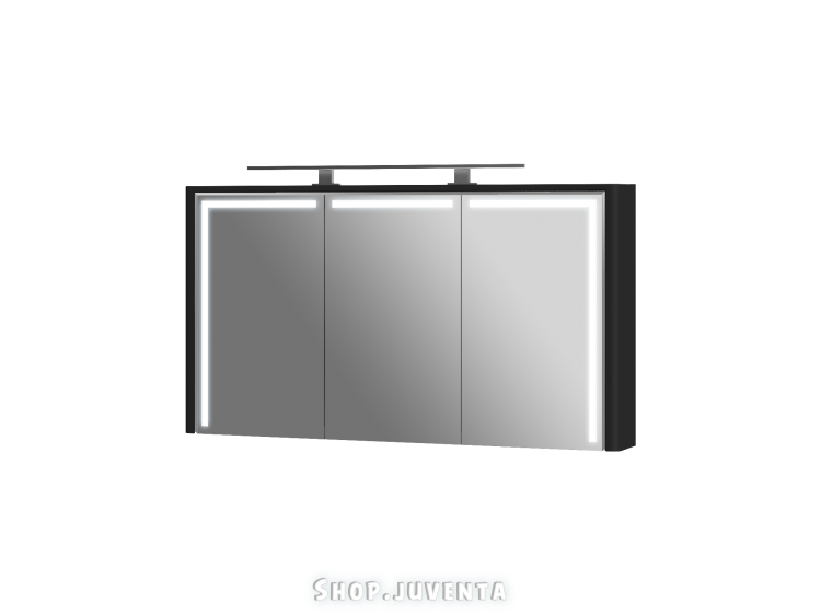 Mirror cabinet Levanto LvM-128 Black