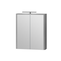 Зеркальный шкаф Livorno LvrMC-60 структурный серый