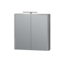 Зеркальный шкаф Livorno LvrMC-70 структурный серый
