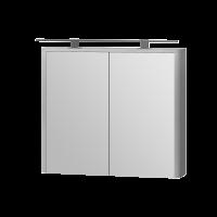 Зеркальный шкаф Livorno LvrMC-80 структурный серый