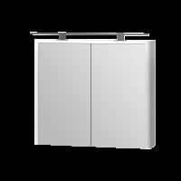Зеркальный шкаф Livorno LvrMC-80 структурный белый