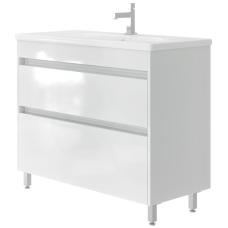 Vanity unit Luton Lt-100 Floor-Standing White