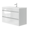 Vanity unit Luton Lt-100 Wall-Mounted White