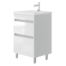 Vanity unit Luton Lt-55 Floor-Standing White