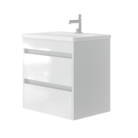 Vanity unit Luton Lt-65 Wall-Mounted White