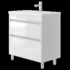 Vanity unit Luton Lt-80 Floor-Standing White