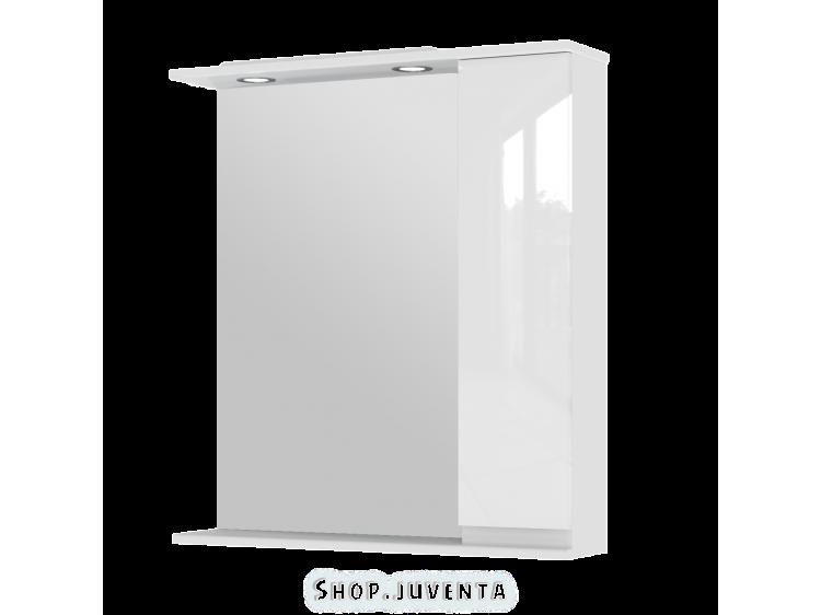 Зеркальный шкаф Monika MMC3-75 правый белый