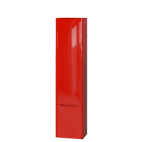 Tall storage unit Tivoli TvP-190 Left Red