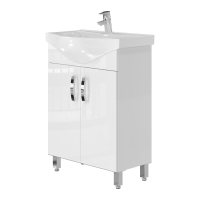 Vanity unit Trento Trn-60 White