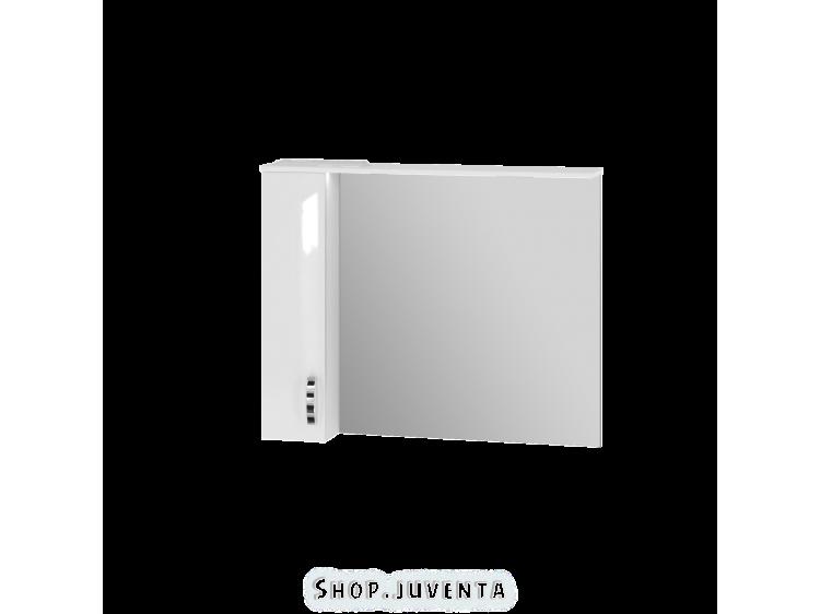 Зеркальный шкаф Trento TrnMC-100 левый белый