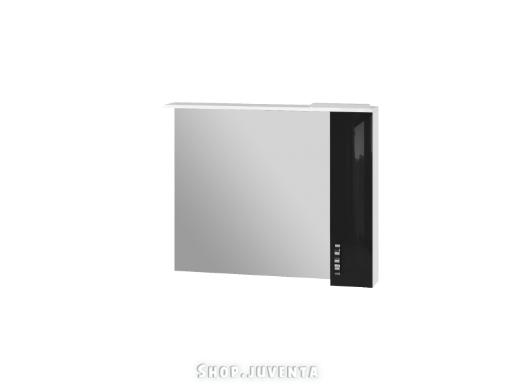 Зеркальный шкаф Trento TrnMC-100 правый черный