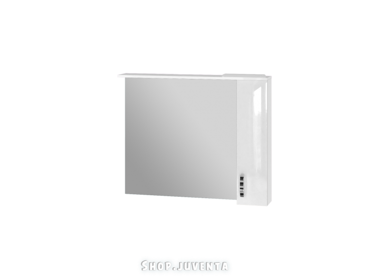 Зеркальный шкаф Trento TrnMC-100 правый белый