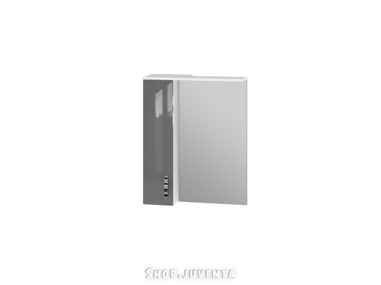 Зеркальный шкаф Trento TrnMC-65 левый серый