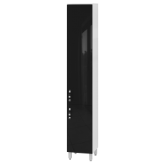 Tall storage unit Trento TrnP-190 Black