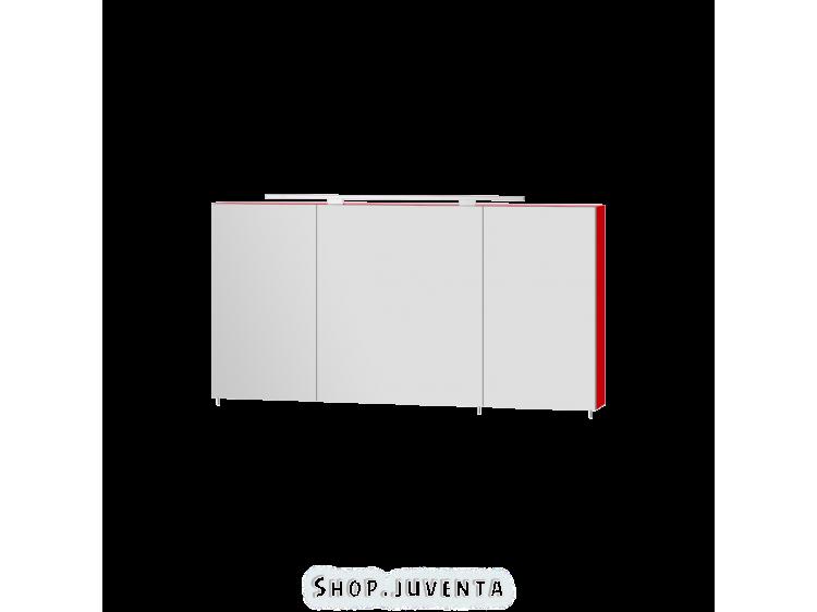 Зеркальный шкаф Vanessa VnM-120 красный