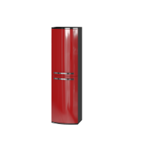 Tall storage unit Vanessa VnP-140 Red