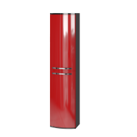 Tall storage unit Vanessa VnP-170 Red