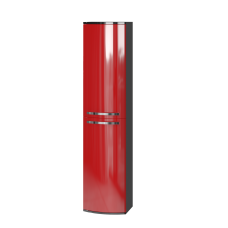 Tall storage unit Vanessa VnP-170 Red